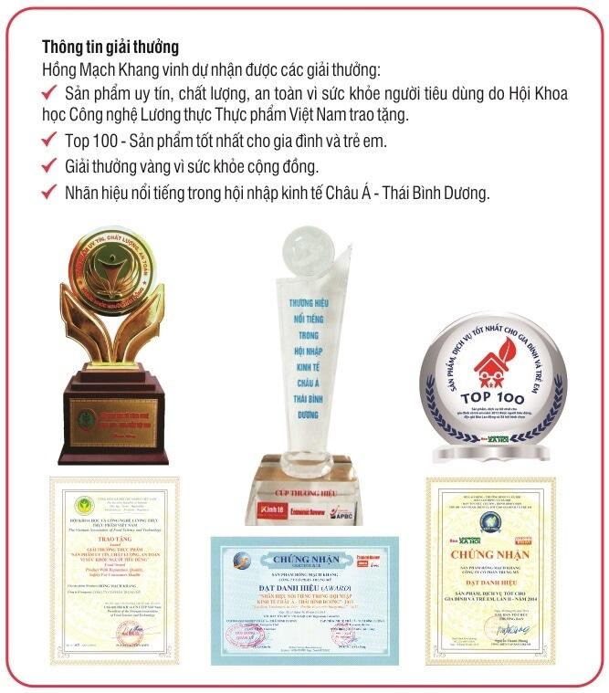 Hồng Mạch Khang và những giải thưởng uy tín được trao tặng